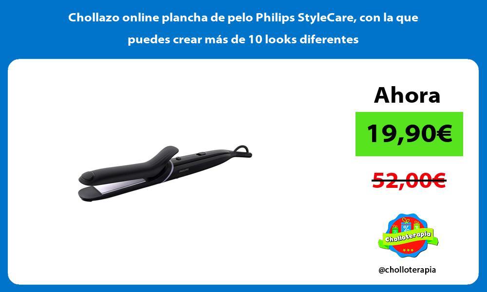 Chollazo online plancha de pelo Philips StyleCare con la que puedes crear más de 10 looks diferentes