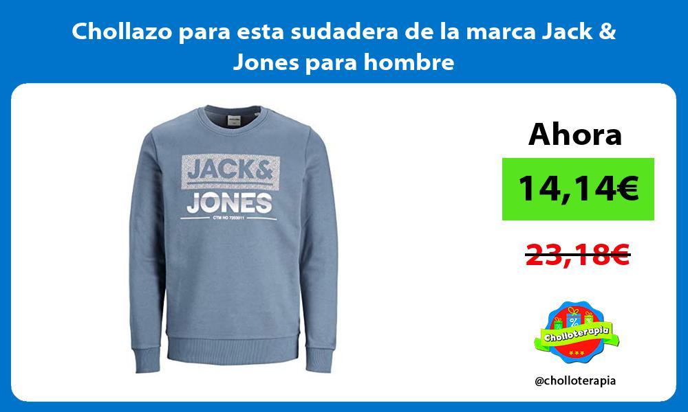Chollazo para esta sudadera de la marca Jack Jones para hombre