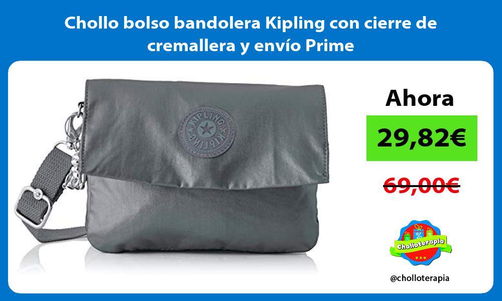 Chollo bolso bandolera Kipling con cierre de cremallera y envío Prime