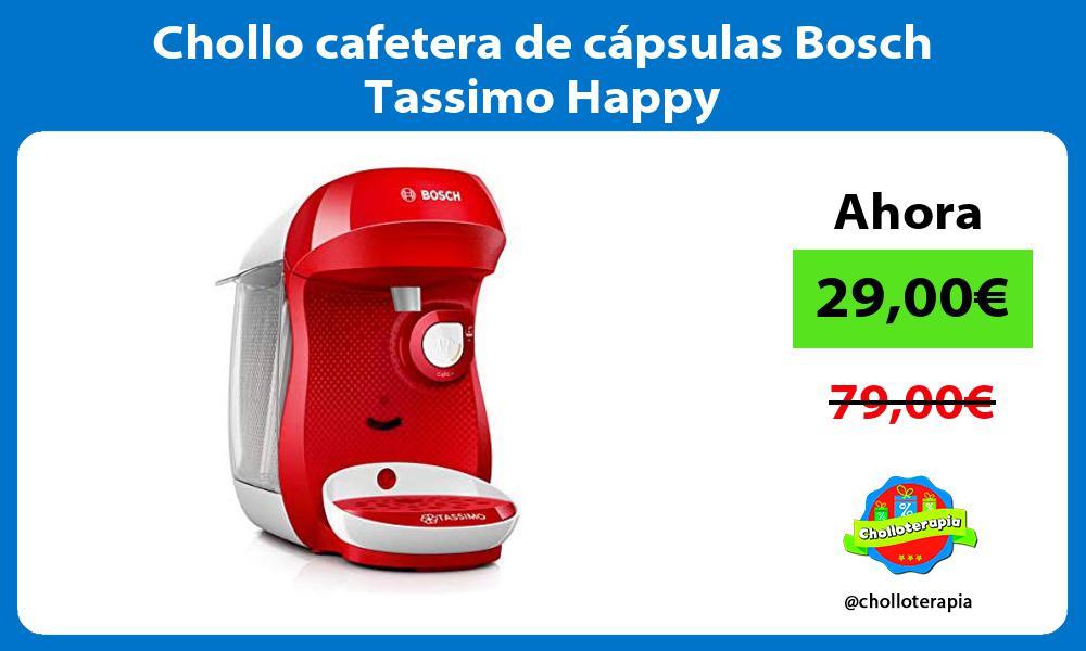 Chollo cafetera de cápsulas Bosch Tassimo Happy