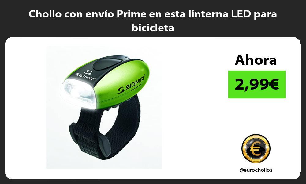Chollo con envío Prime en esta linterna LED para bicicleta