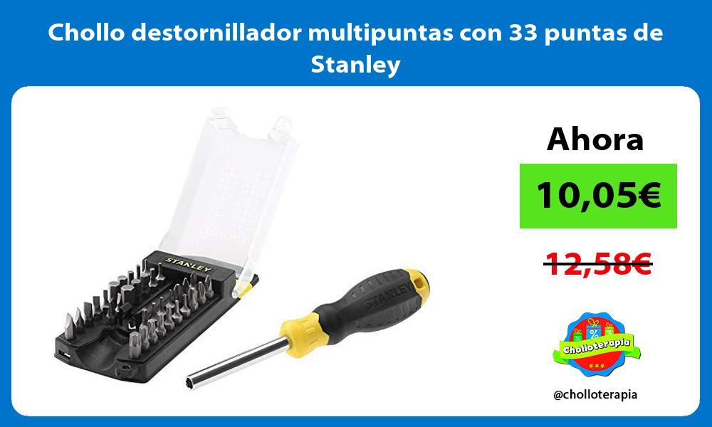 Chollo destornillador multipuntas con 33 puntas de Stanley
