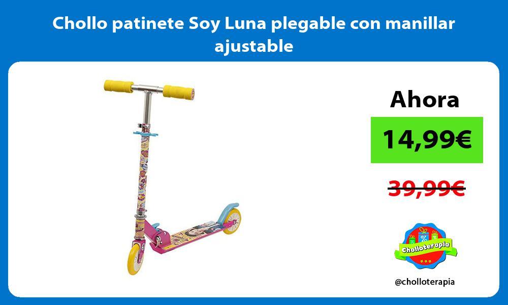 Chollo patinete Soy Luna plegable con manillar ajustable