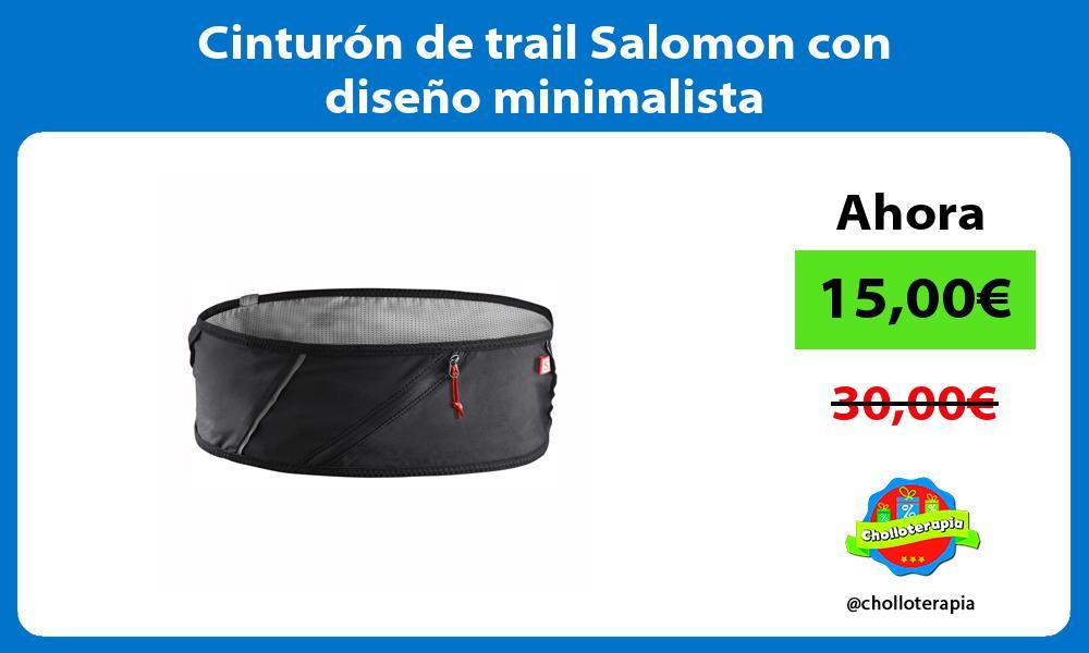 Cinturón de trail Salomon con diseño minimalista