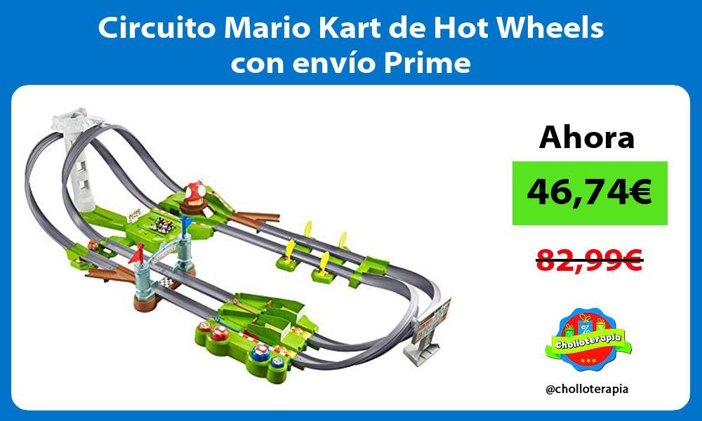 Circuito Mario Kart de Hot Wheels con envío Prime