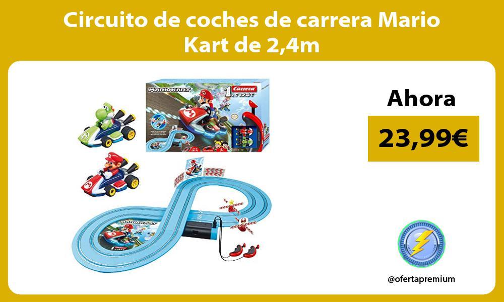 Circuito de coches de carrera Mario Kart de 24m