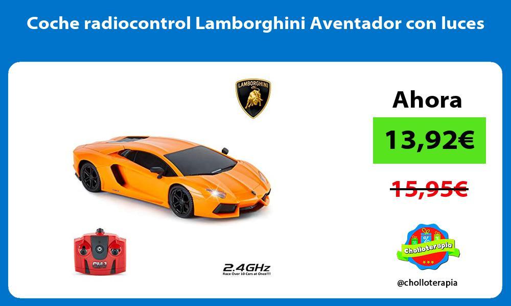 Coche radiocontrol Lamborghini Aventador con luces