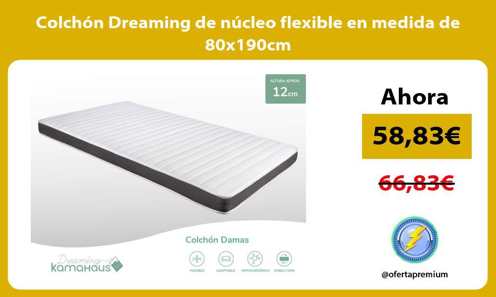 Colchón Dreaming de núcleo flexible en medida de 80x190cm