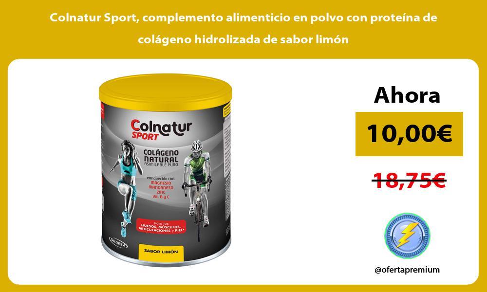Colnatur Sport complemento alimenticio en polvo con proteína de colágeno hidrolizada de sabor limón