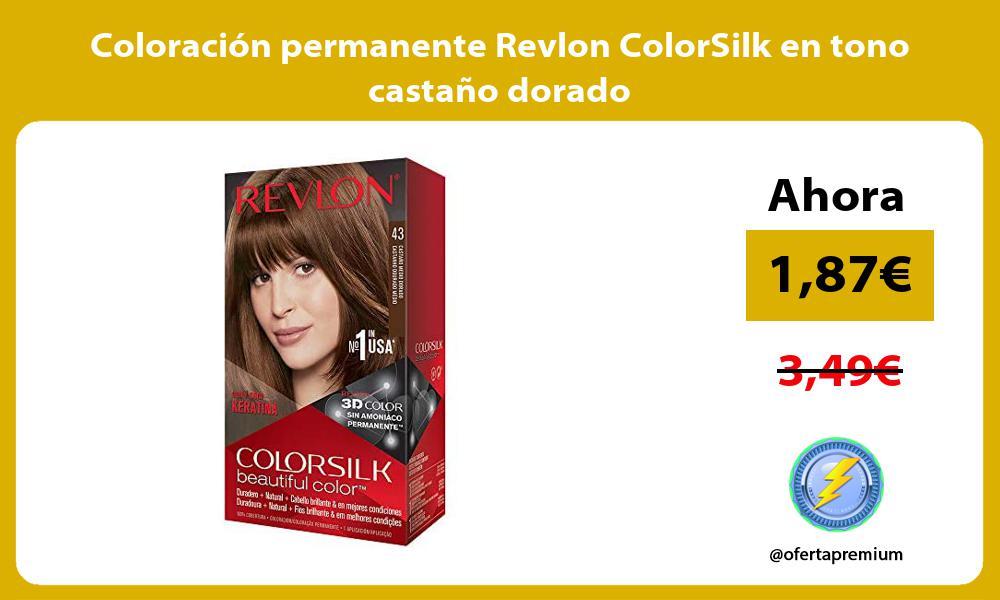 Coloración permanente Revlon ColorSilk en tono castaño dorado