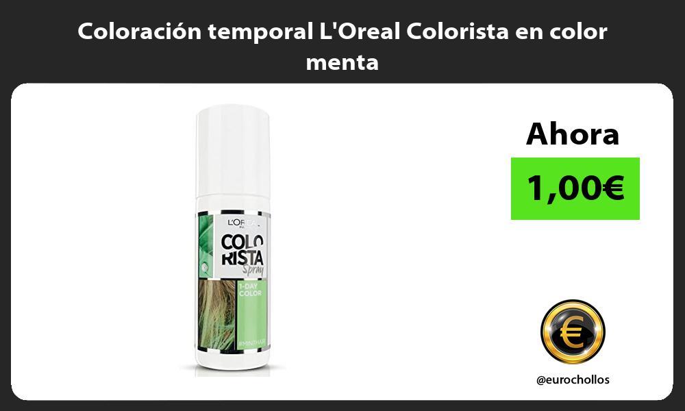 Coloración temporal LOreal Colorista en color menta