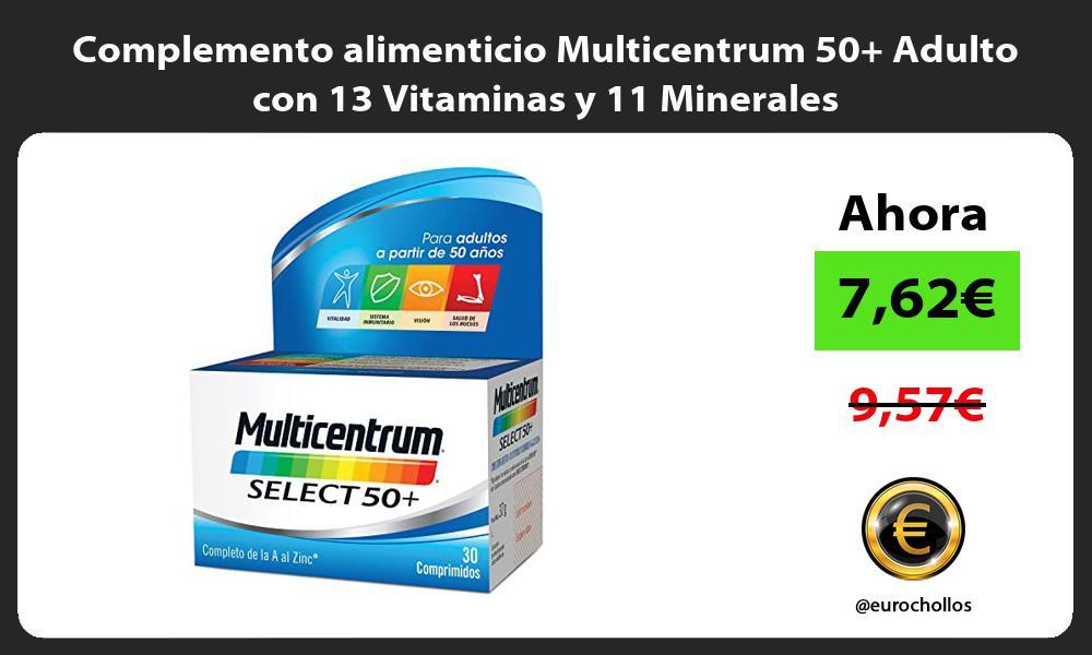Complemento alimenticio Multicentrum 50 Adulto con 13 Vitaminas y 11 Minerales