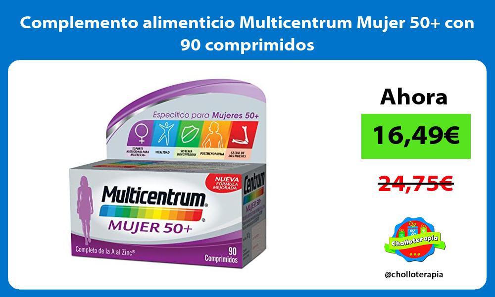 Complemento alimenticio Multicentrum Mujer 50 con 90 comprimidos