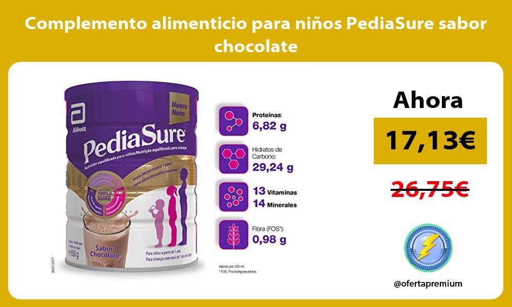Complemento alimenticio para niños PediaSure sabor chocolate
