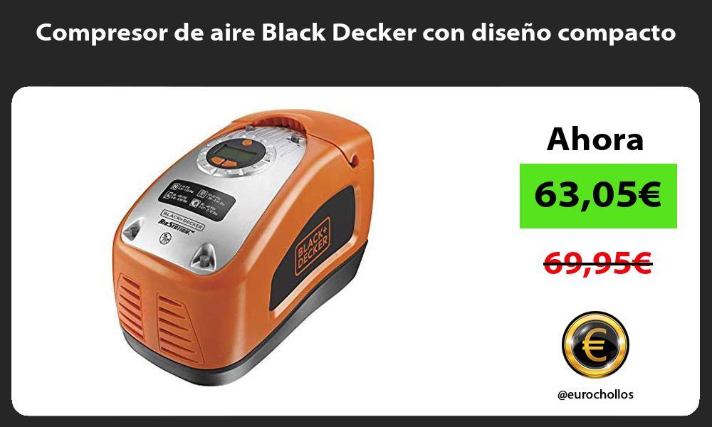 Compresor de aire Black Decker con diseño compacto