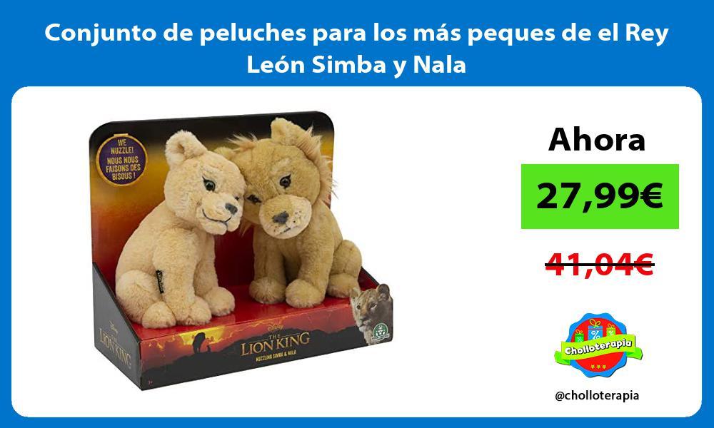 Conjunto de peluches para los más peques de el Rey León Simba y Nala