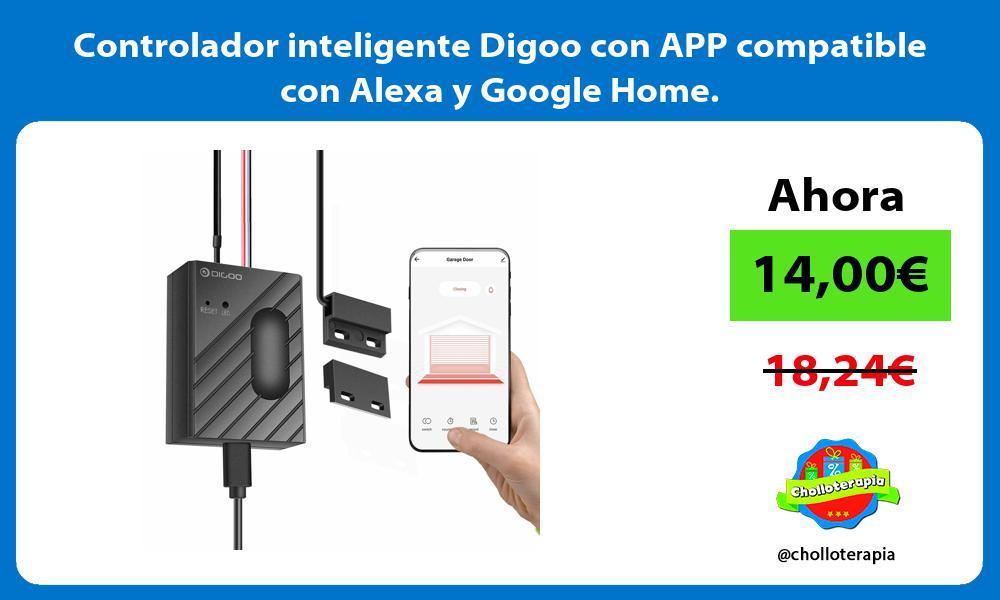 Controlador inteligente Digoo con APP compatible con Alexa y Google Home