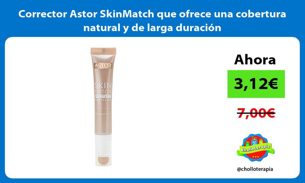 Corrector Astor SkinMatch que ofrece una cobertura natural y de larga duración
