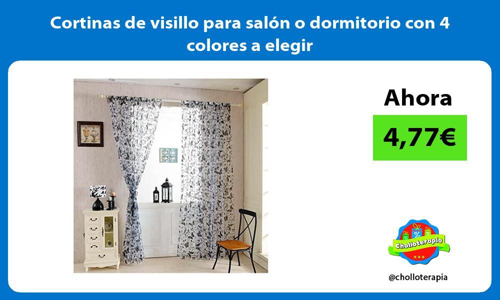 Cortinas de visillo para salón o dormitorio con 4 colores a elegir