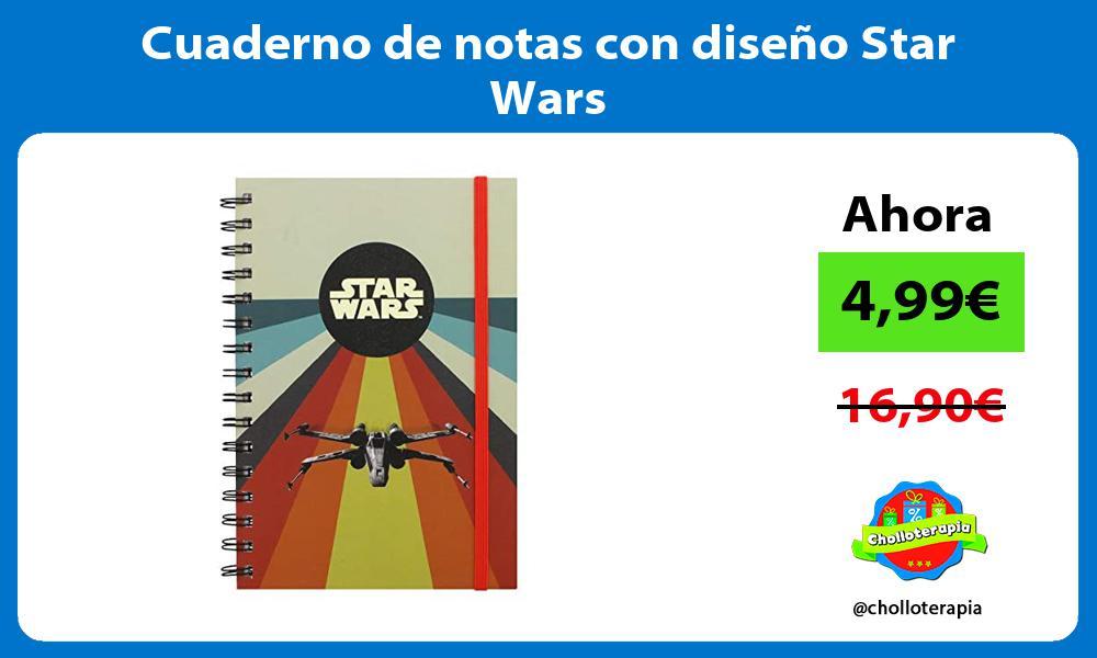 Cuaderno de notas con diseño Star Wars