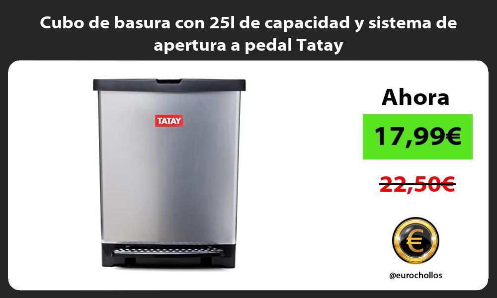 Cubo de basura con 25l de capacidad y sistema de apertura a pedal Tatay