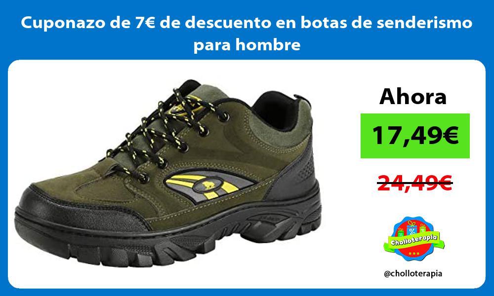 Cuponazo de 7€ de descuento en botas de senderismo para hombre