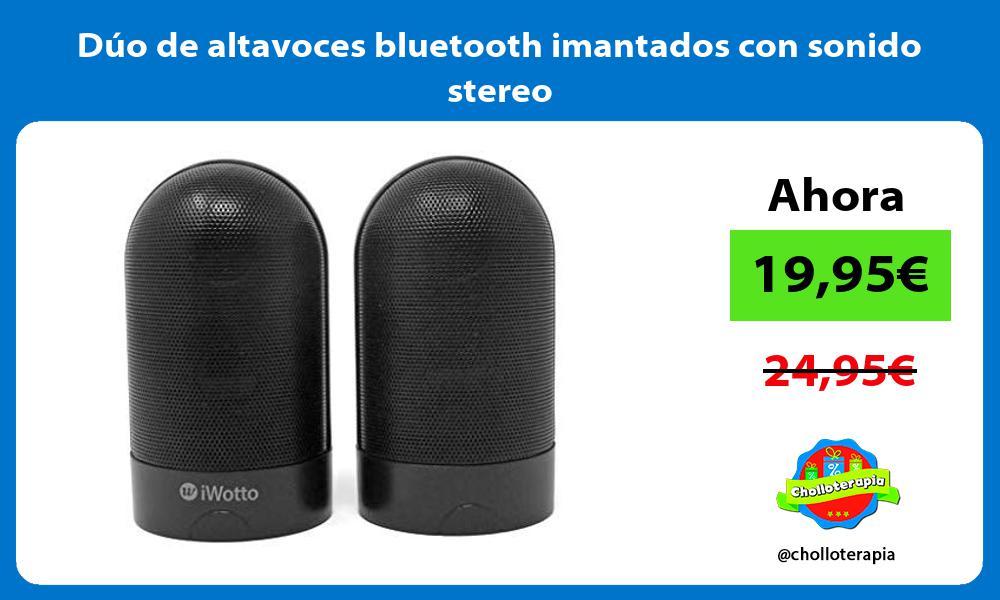 Dúo de altavoces bluetooth imantados con sonido stereo