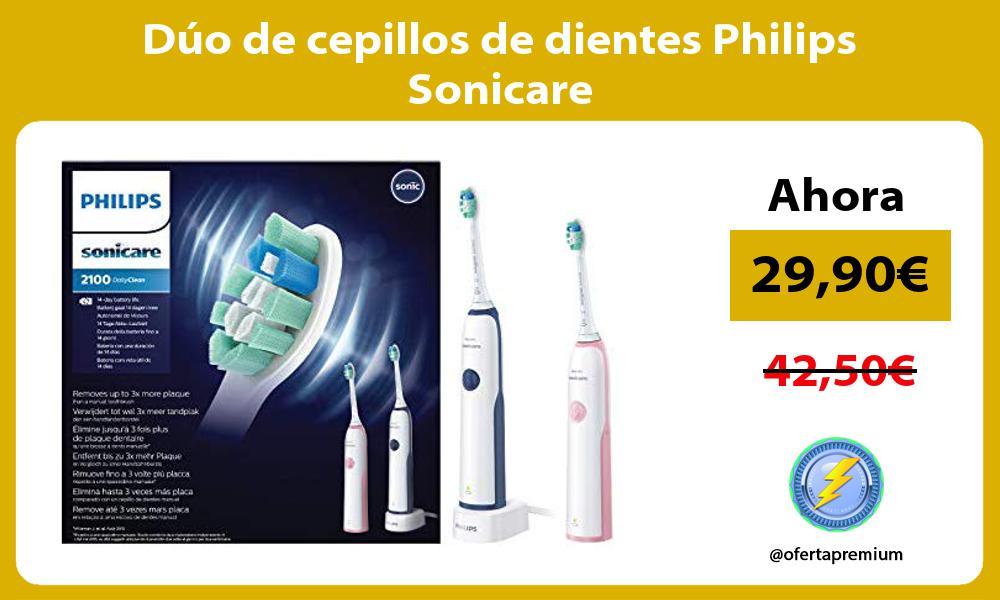 Dúo de cepillos de dientes Philips Sonicare