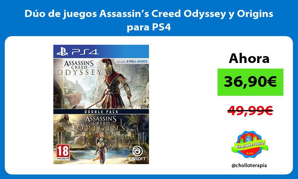 Dúo de juegos Assassin's Creed Odyssey y Origins para PS4