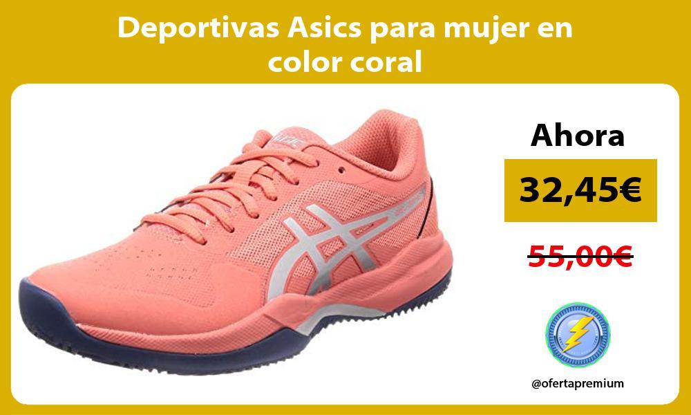 Deportivas Asics para mujer en color coral