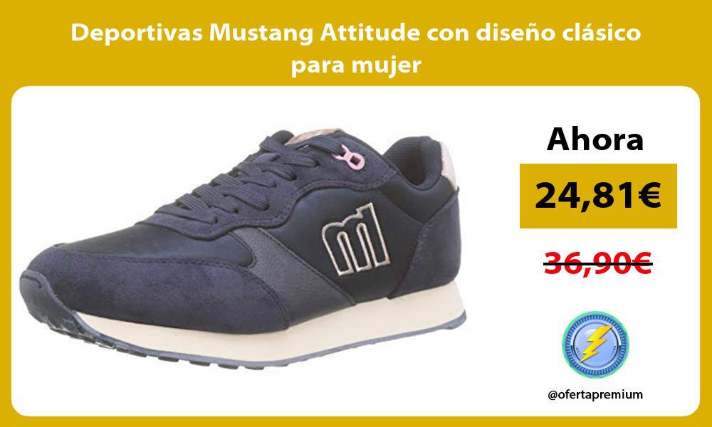Deportivas Mustang Attitude con diseño clásico para mujer