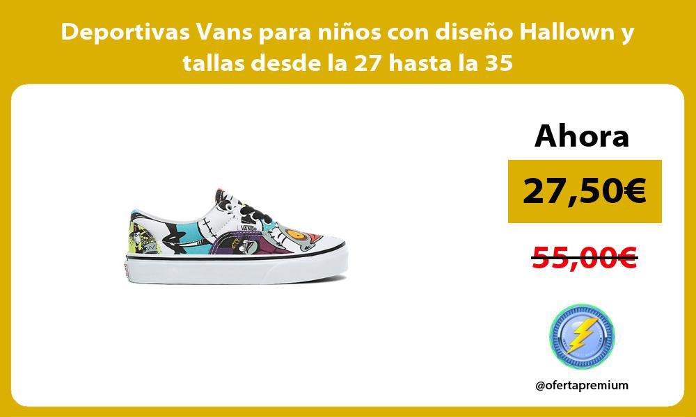 Deportivas Vans para niños con diseño Hallown y tallas desde la 27 hasta la 35