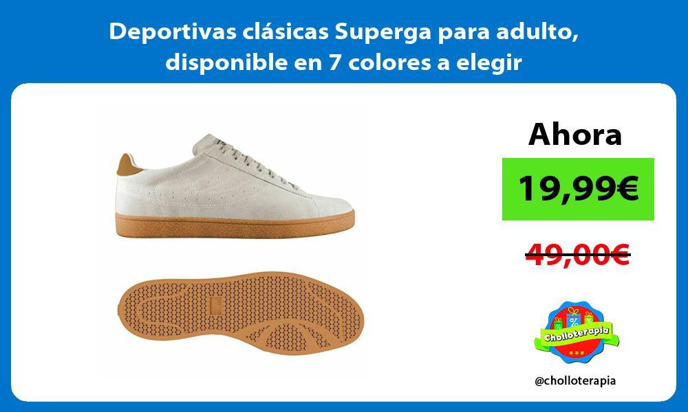 Deportivas clásicas Superga para adulto disponible en 7 colores a elegir