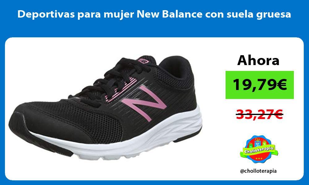 Deportivas para mujer New Balance con suela gruesa