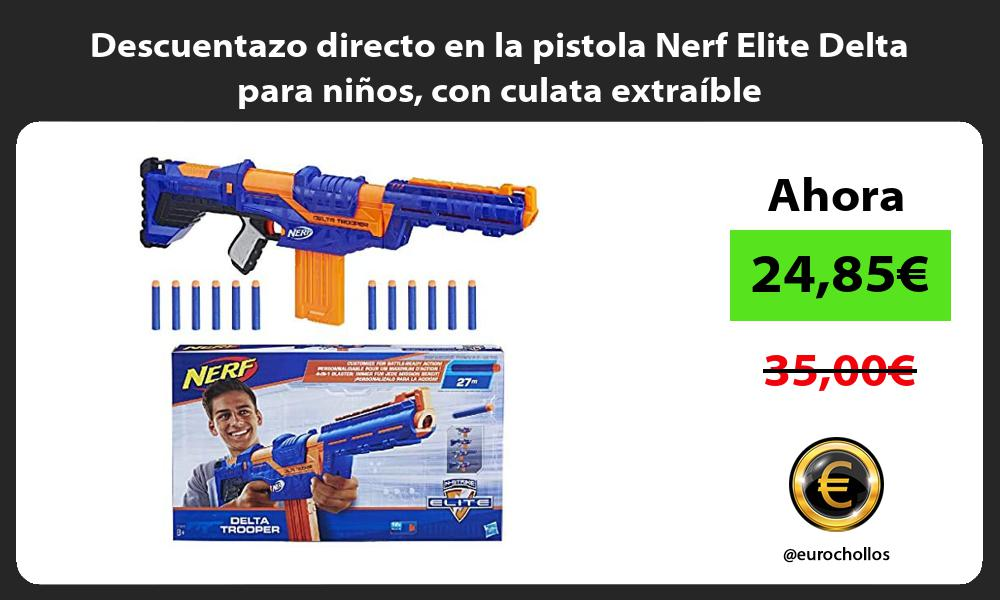 Descuentazo directo en la pistola Nerf Elite Delta para niños con culata extraíble