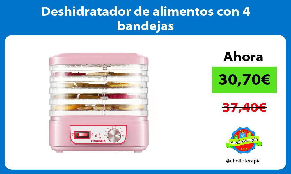 Deshidratador de alimentos con 4 bandejas