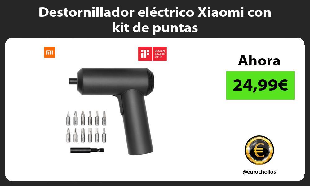 Destornillador eléctrico Xiaomi con kit de puntas