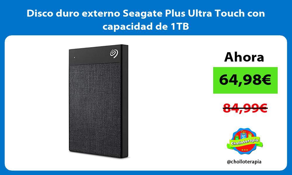 Disco duro externo Seagate Plus Ultra Touch con capacidad de 1TB