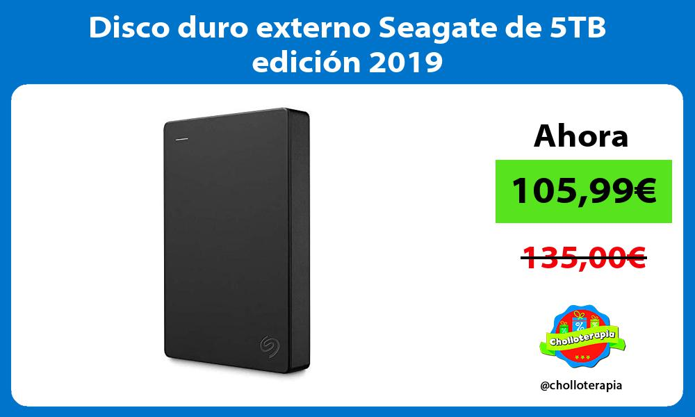 Disco duro externo Seagate de 5TB edición 2019