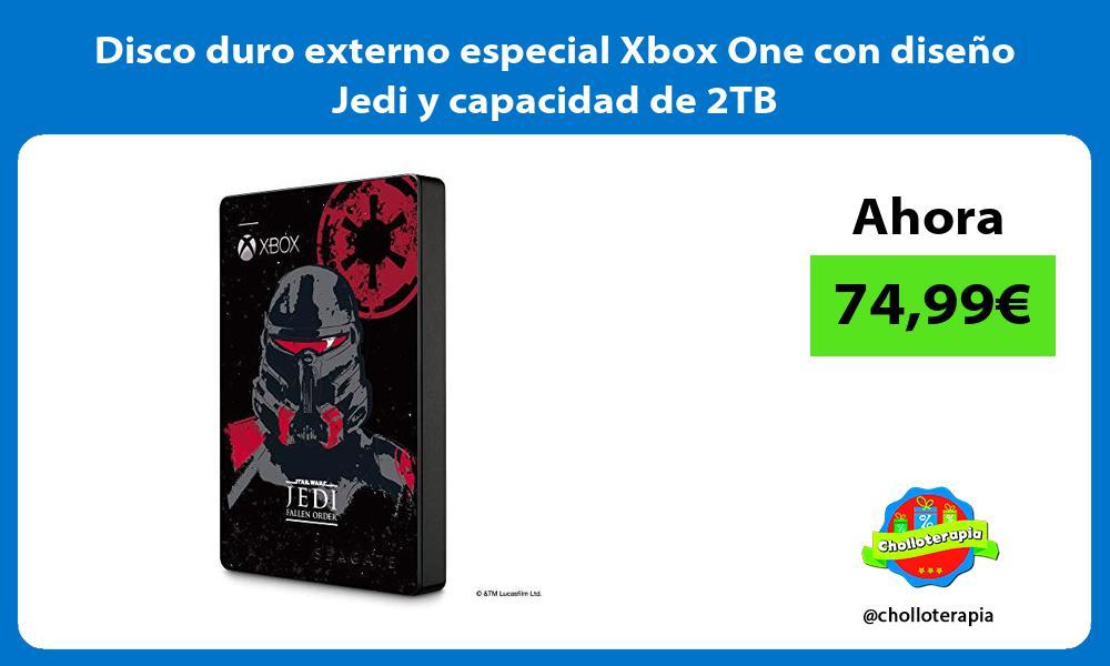 Disco duro externo especial Xbox One con diseño Jedi y capacidad de 2TB