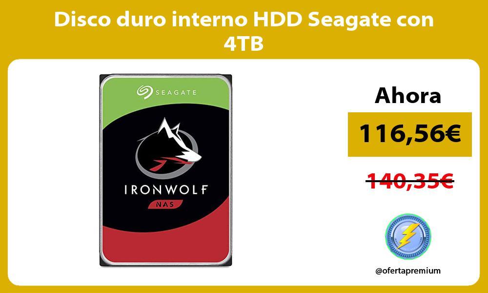 Disco duro interno HDD Seagate con 4TB