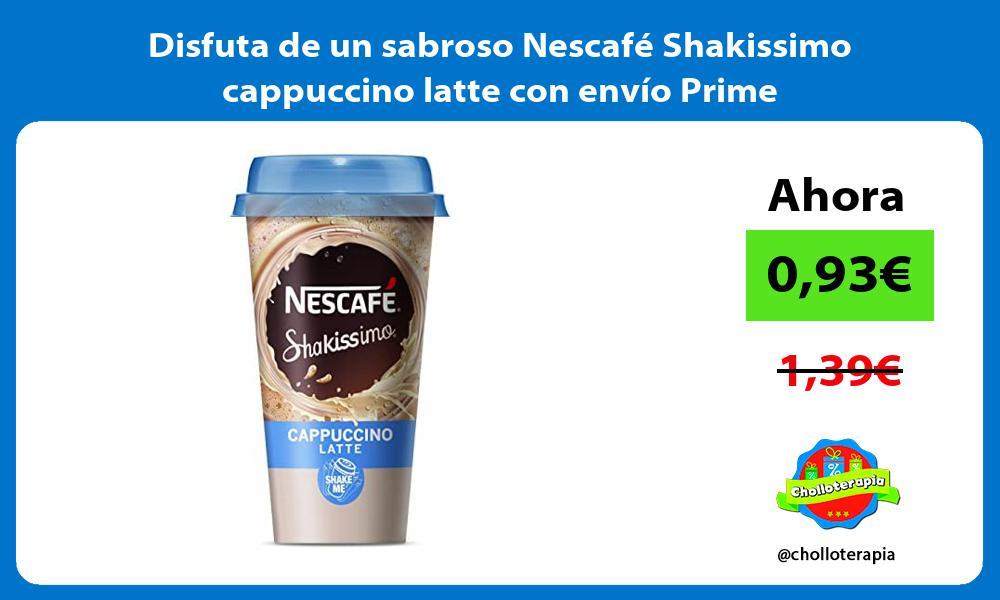 Disfuta de un sabroso Nescafé Shakissimo cappuccino latte con envío Prime