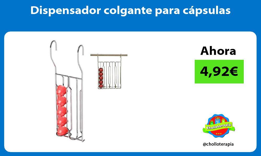 Dispensador colgante para cápsulas