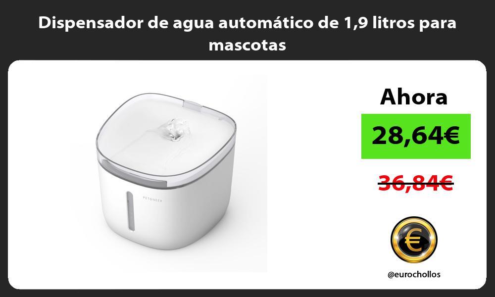 Dispensador de agua automático de 19 litros para mascotas