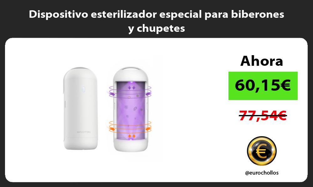 Dispositivo esterilizador especial para biberones y chupetes