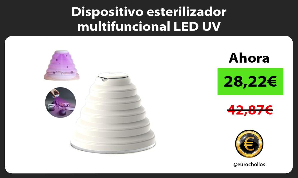 Dispositivo esterilizador multifuncional LED UV