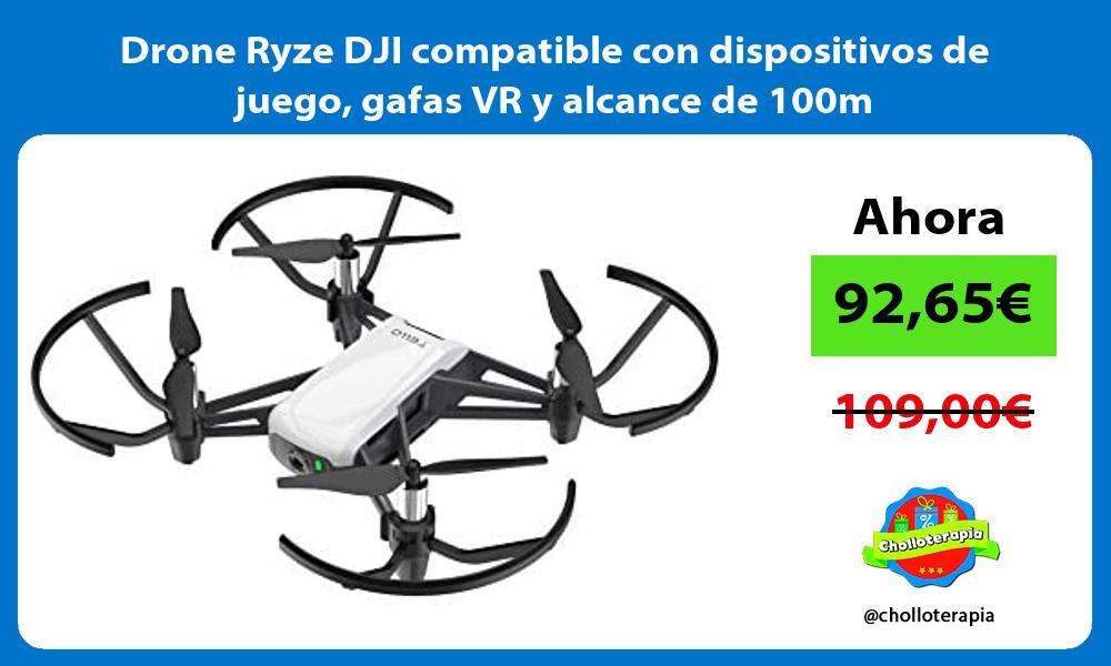 Drone Ryze DJI compatible con dispositivos de juego gafas VR y alcance de 100m