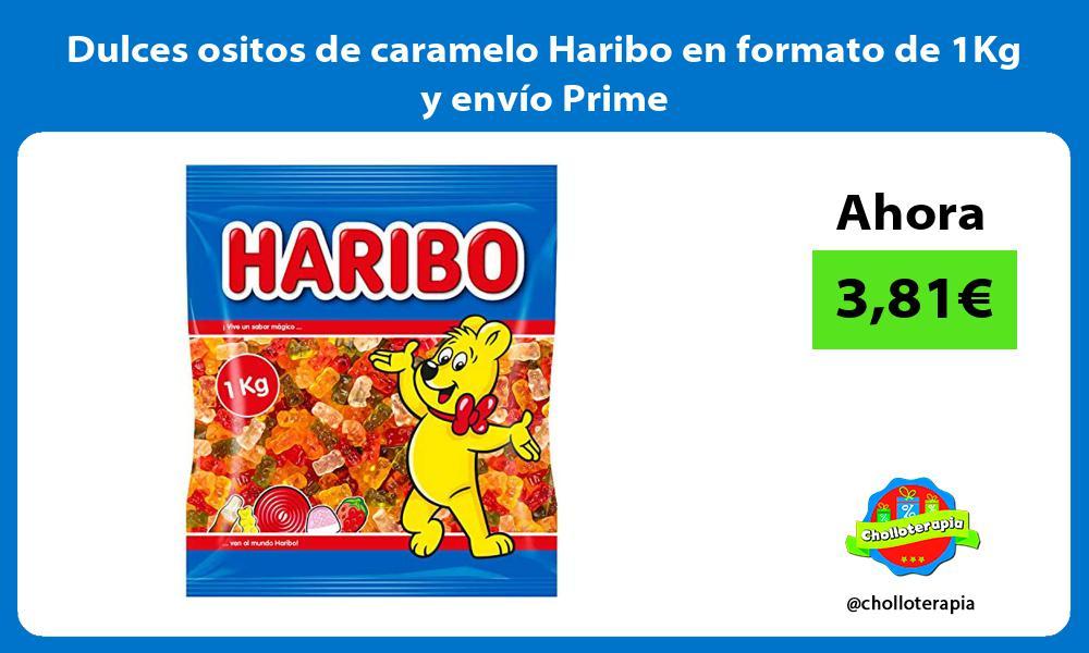Dulces ositos de caramelo Haribo en formato de 1Kg y envío Prime