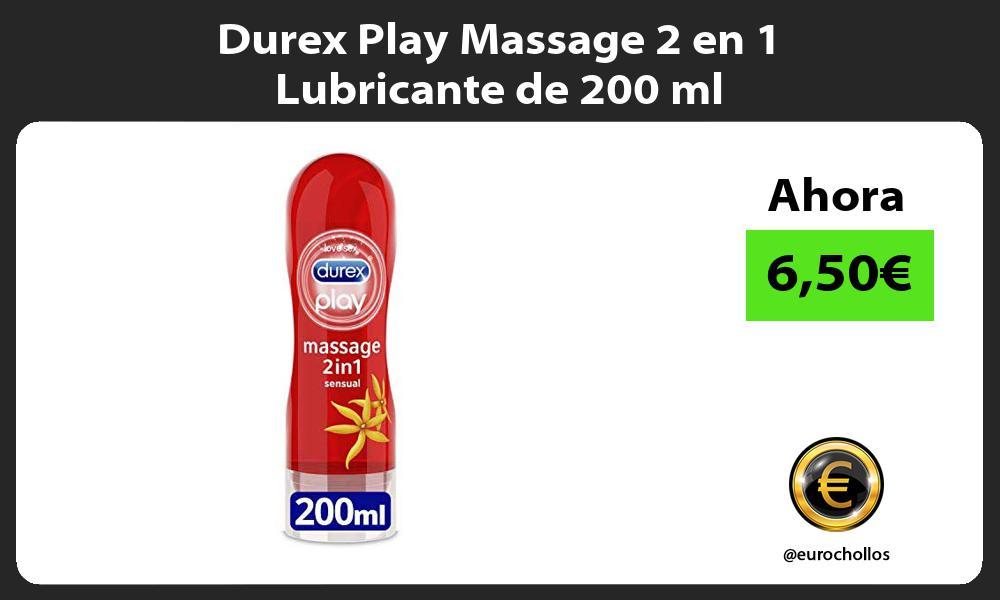 Durex Play Massage 2 en 1 Lubricante de 200 ml