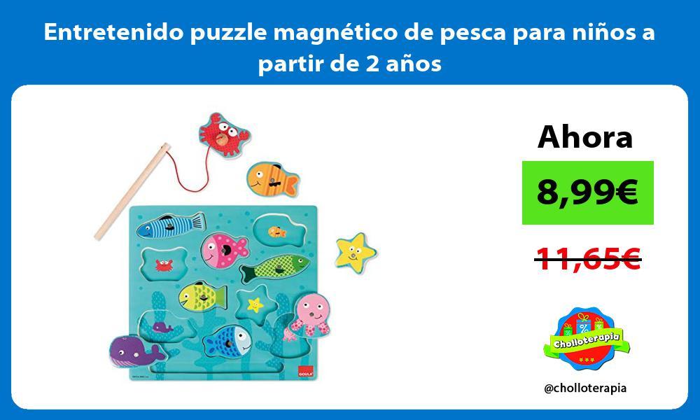 Entretenido puzzle magnético de pesca para niños a partir de 2 años